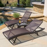 Andover Mills Allyssa Sun Reclining Chaise Lounge Set with Table