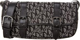 Christian Dior Black Trotter Canvas Shoulder Bag