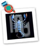 3dRose LLC qs_925_1 Zodiac Signs Horoscope - Scorpio Zodiac Sign - Quilt Squares