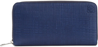 Loewe Zip-around leather wallet, Navy blue