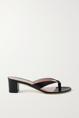 Stuart Weitzman Brigida Leather Sandals - Black