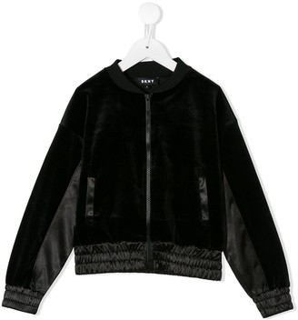 DKNY Ruched Detail Bomber Jacket
