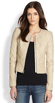 BCBGMAXAZRIA Quilted Faux Leather Jacket