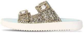 Marni Junior Glittered Leather Sandals
