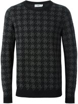 Closed houndstooth pullover sweater