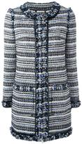 Tory Burch tweed coat - women - Cotton/Acrylic/Polyester/other fibers - L