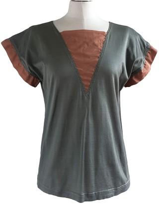 Rodier Khaki Cotton Top for Women Vintage