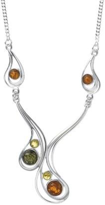 Nature d'Ambre 3170518 Women's Necklace Silver 925/1000/Amber 43 cm