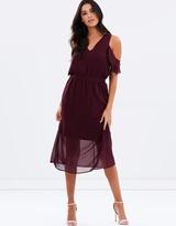 Donella Sheer Overlayer Midi Dress