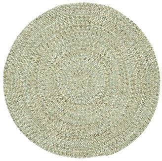 Pottery Barn Ridley Round Indoor/Outdoor Braided Rug - Gray