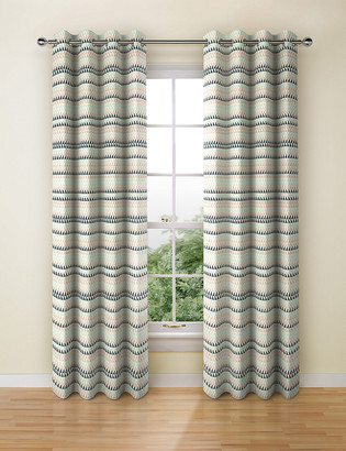 Marks and Spencer Chenille Triangle Eyelet Curtains