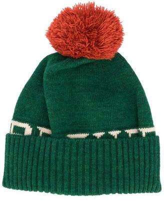 Bobo Choses Cable-Knit Pom Pom Beanie