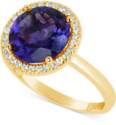 Macy's Amethyst (3 ct. t.w.) and Diamond (1/6 ct. t.w.) Ring in 14k Gold