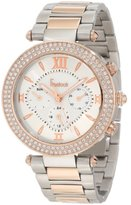 Freelook Women's HA1539RGM-4 Silver Mother-Of-Pearl Chronograph Dial Rose Gold Swarovski Bezel Watch