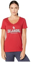 Champion College Oklahoma Sooners University V-Neck Tee (Cardinal 4) Women's T Shirt