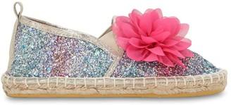 Colors of California Glittered Cotton Blend Espadrilles