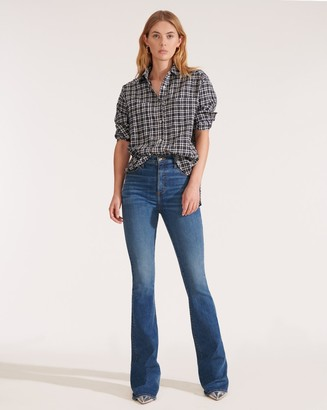 Veronica Beard Beverly High-Rise Skinny-Flare Jean