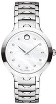 Movado Analog Luno 0.042 TCW Diamond Stainless Steel Bracelet Watch