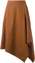 Stella McCartney asymmetric midi skirt - women - Polyamide - 40