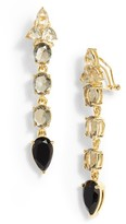 Vince Camuto Women's Linear Stone Drop Earrings
