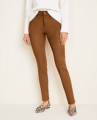 Ann Taylor Faux Suede Skinny Jeans