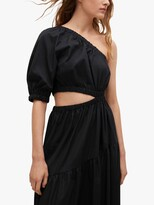 Thumbnail for your product : MANGO Asymmetric One Shoulder Tiered Maxi Dress