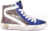 Golden Goose Deluxe Brand Slide Leopard Glitter Fur Trainers