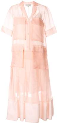 Lee Mathews sheer shirt dress