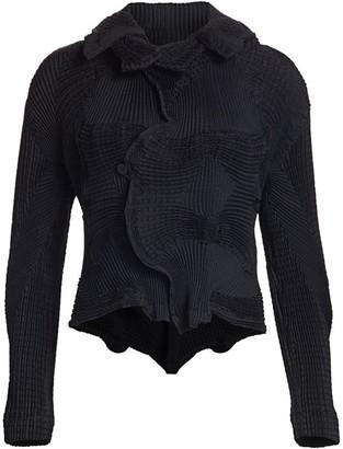 Issey Miyake Dots Stretch Pleated Jacket