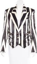 Balmain Silk-Blend Jacquard Blazer w/ Tags