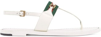Gucci Web Stripe T-bar flat sandals