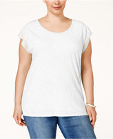 Style&Co. Style & Co. Plus Size Chiffon-Sleeve Top, Only at Macy's