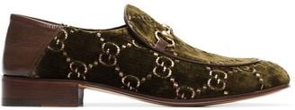 Gucci GG horsebit velvet-effect loafers