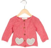 Oeuf Girls' Heart Alpaca Sweater