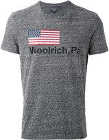 Woolrich logo print T-shirt - men - Cotton/Polyester - M