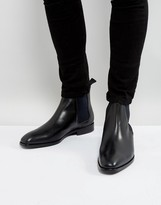 Ps By Paul Smith Gerald Leather Chelsea Boots In Black