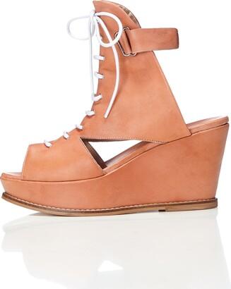 Find. Women's Bree Wedge Sandals Brown (Nude) 6 UK (39 EU)