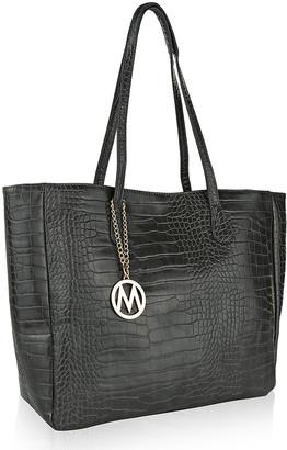 Mkf Collection By Mia K. MKF Collection by Mia K. Women's Handbags - Dark Gray Croc-Embossed Tote