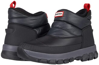 Hunter Insulated Snow Ankle Boots (Black) Men's Boots