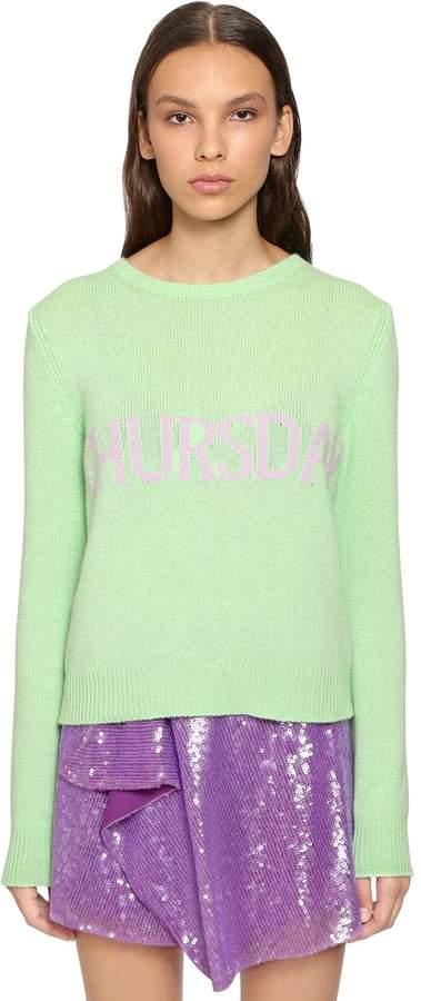 Alberta Ferretti Slim Thursday Wool & Cashmere Sweater