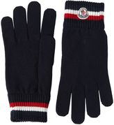 Moncler Striped Wool Gloves