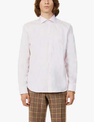 Gucci GG-embroidered cotton shirt