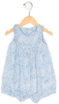 Jacadi Girls' Floral Print Sleeveless All-In-One