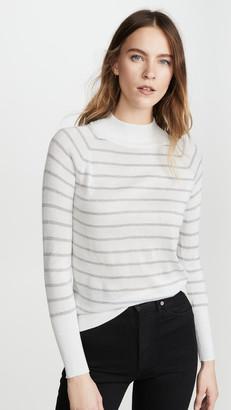 Chaser Striped Lurex Turtleneck Sweater