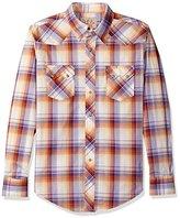 Wrangler Men's Western Two Pocket Snap Front Long Sleeve Woven Shirt
