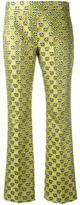 Giamba floral jacquard trousers - women - Cotton/Polyester/Acetate - 38