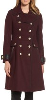 GUESS Women's Wool Blend Military Coat