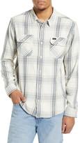RVCA Reverberation Plaid Button-Up Flannel Shirt