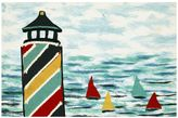 Liora Manné Trans Ocean Imports Visions IV Lighthouse Doormat - 20'' x 29 1/2''