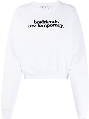 Off-White Boyfriends print cropped sweatshirt